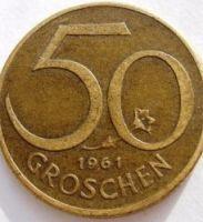Австрия 50 грошей 1961