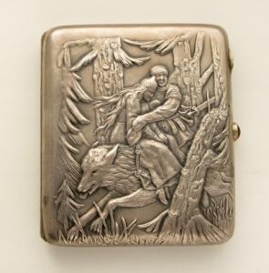 Старинный серебряный портсигар оценка