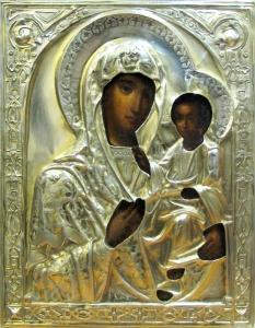 Серебряный оклад. Смоленская икона Божьей Матери