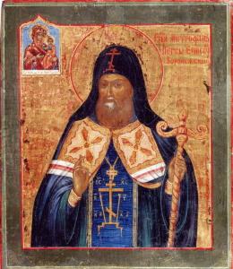 Икона-святителя-Митрофана-Воронежского-XIX-век