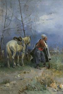Картина Васильковского Запорожец в дозоре