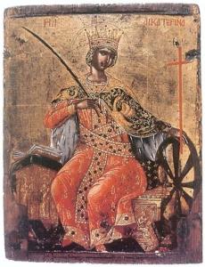 Старинная икона Святой Екатерины продать в Киеве, Харькове, Одессе