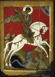 Георгий Победоносец старинная икона