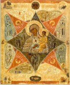 Старинная икона Неопалимая Купина продать Киев, Харьков, Одесса, цена