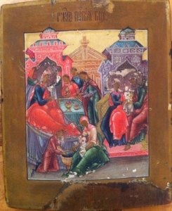 Рождество Богородицы – продать старинную икону в Киеве, Харькове, Одессе