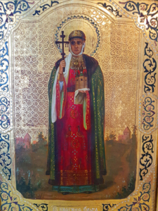Святая Ольга, продать старинную икону в Киеве, Одессе, Харькове