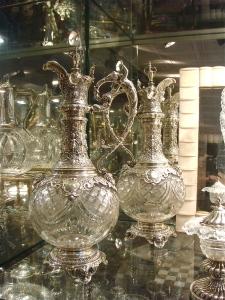 Антикварное серебро и хрусталь