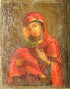 Владимирская Богоматерь - продать старинную икону в Киеве, Харькове, Одессе