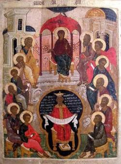 Сошествие Святого Духа продать старинную икону