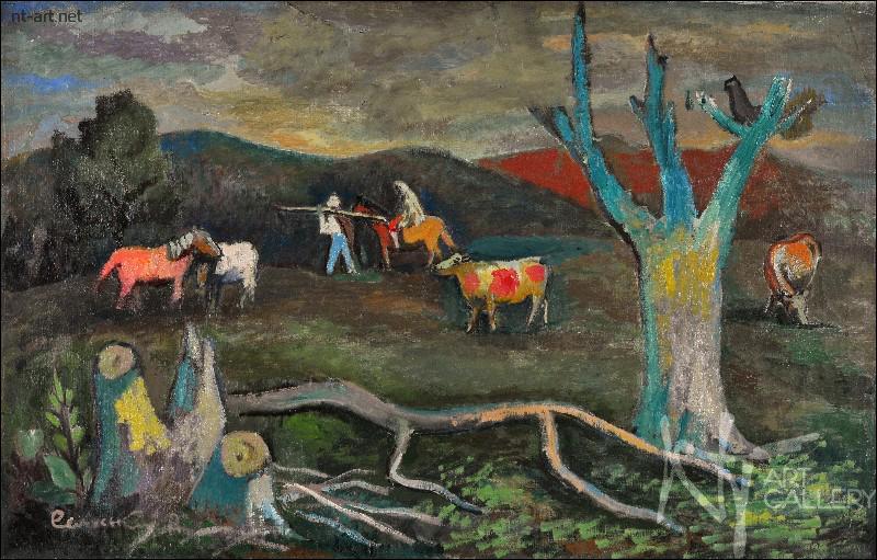 продать картину Сельского